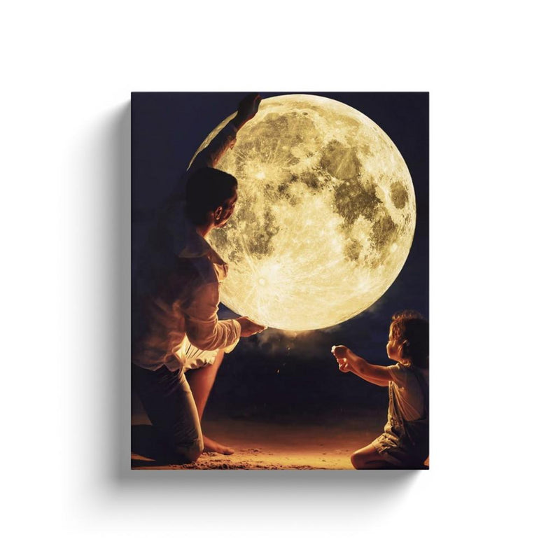 Moon Dad Canvas