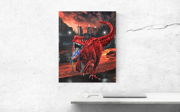 Toronto Raptor Canvas