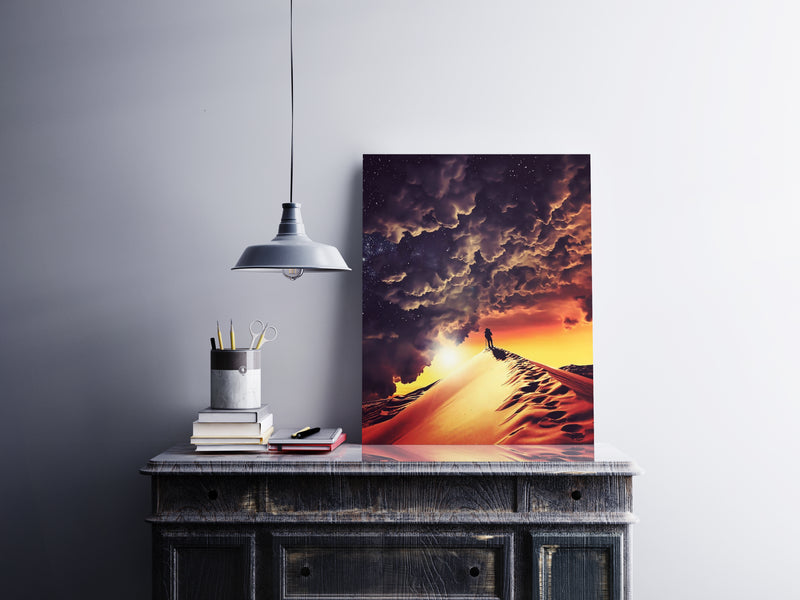 Walk Alone Canvas Wall Art