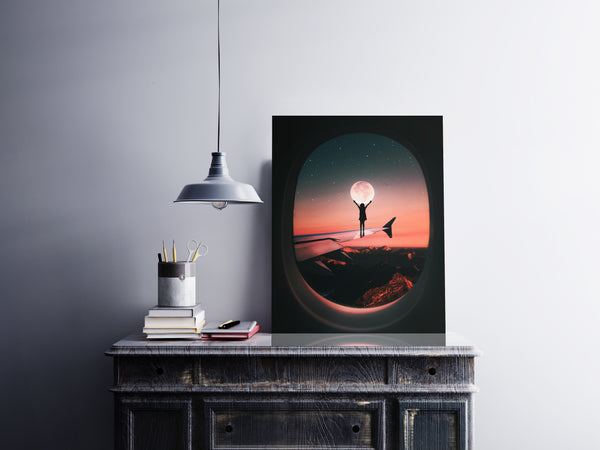 Moon Wing Canvas Wall Art