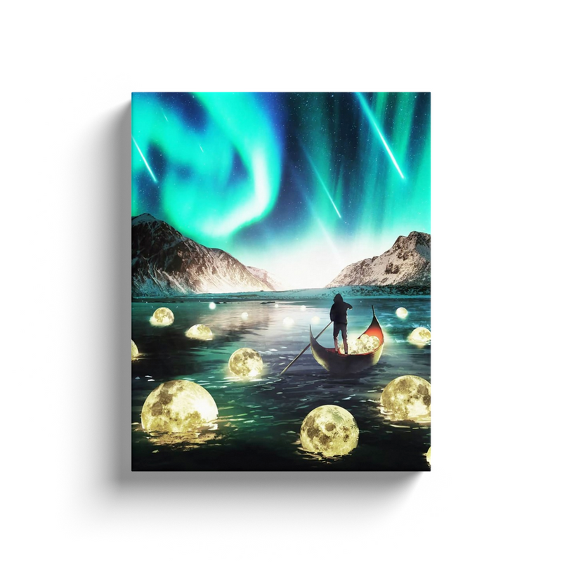 River Of Moons Canvas Wall Art