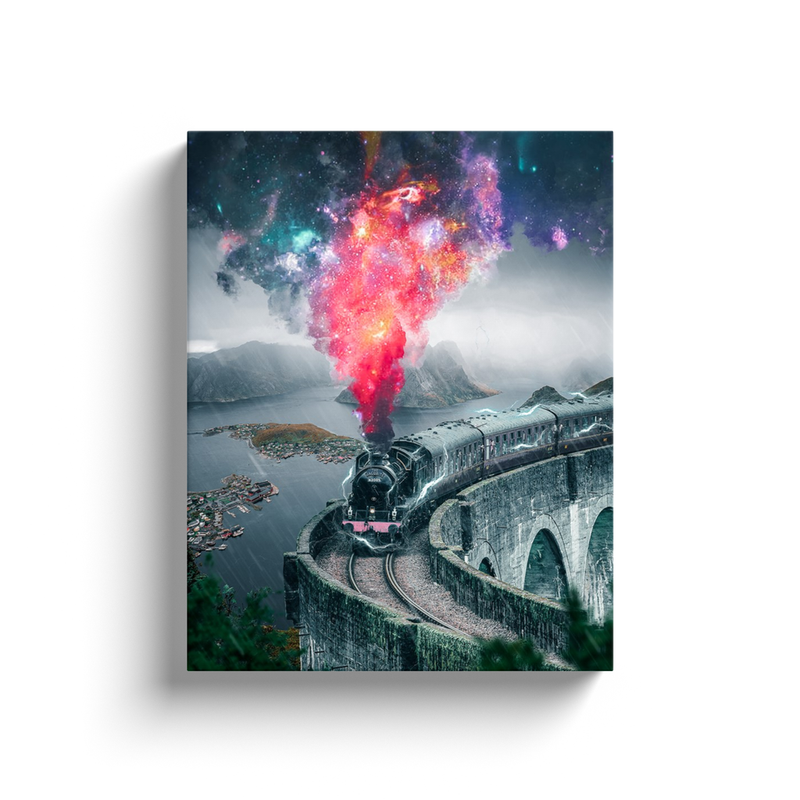 Cosmic Train Canvas