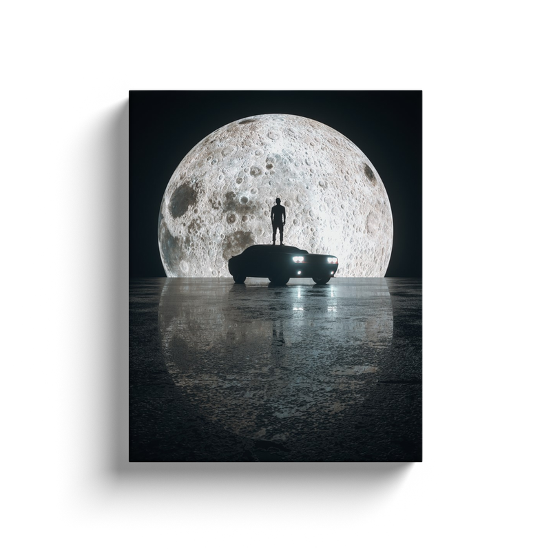 Moon Rider Canvas