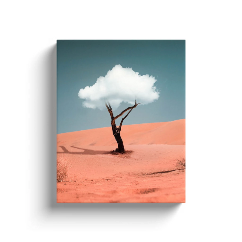 Cloud Tree Canvas Wall Art