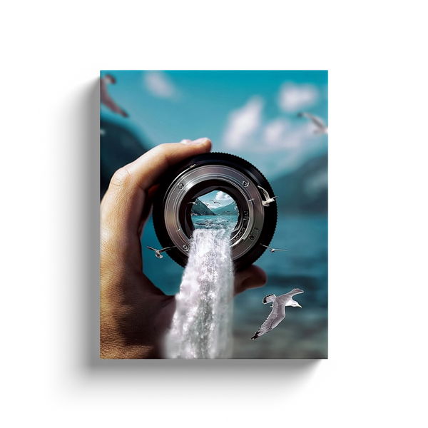 Water Lens Canvas Wall Art