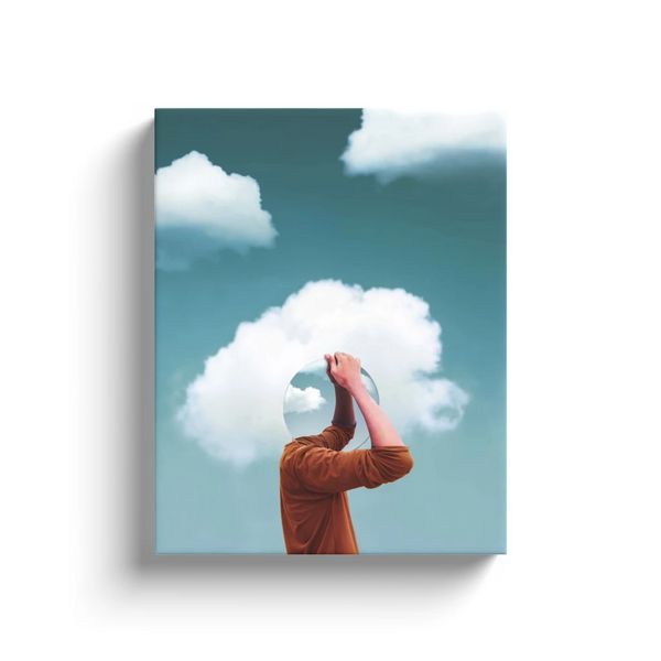 Head In The Clouds Canvas Wall Art
