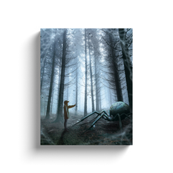 Spider In The Woods Canvas
