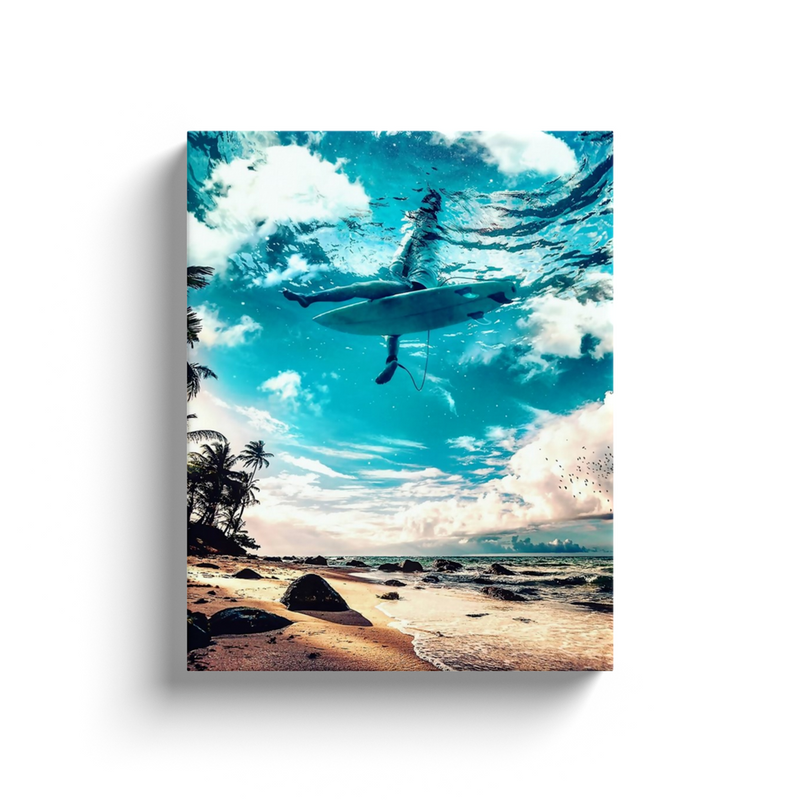 Surfboard Canvas Wall Art