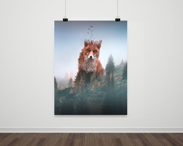 Fox Autumn Fine Art Print