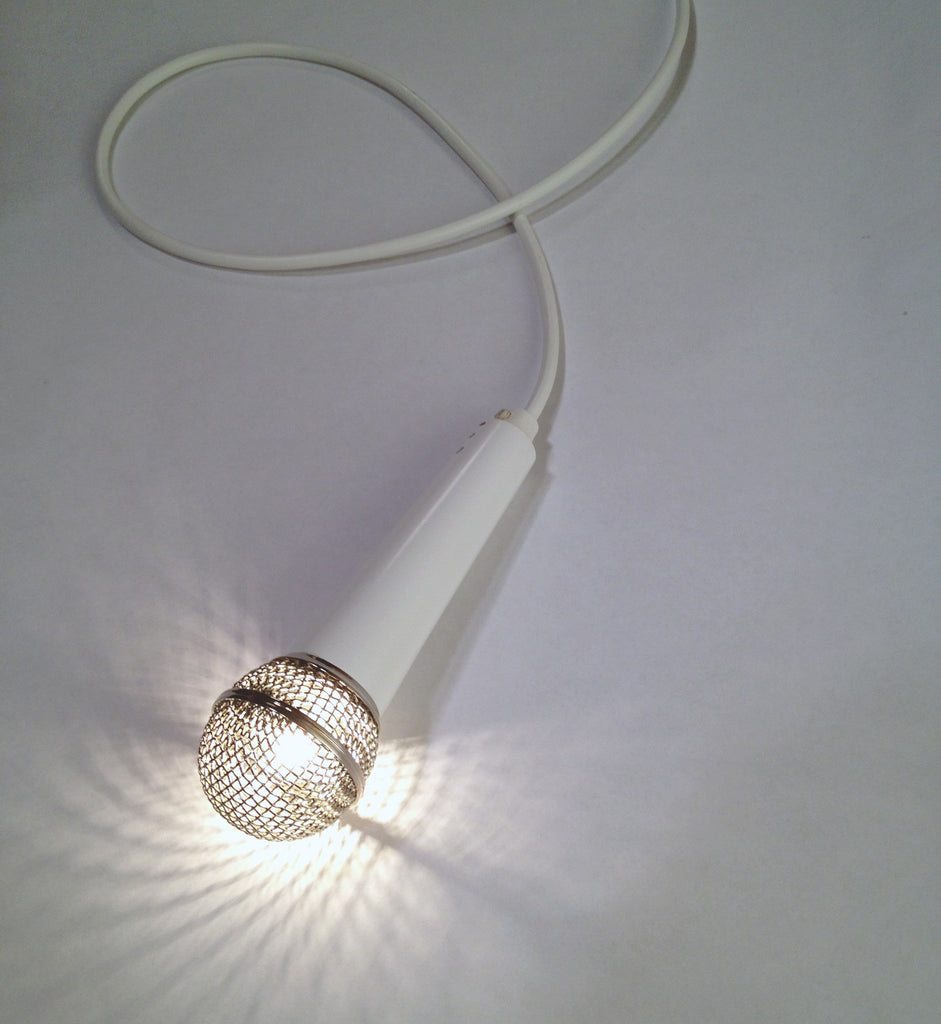 SOLO Pendant Light in White with Polished Nickel Globe