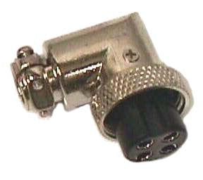 PLUG Cb Ham Radio Right Angle 4 pin Mic microphone Plug