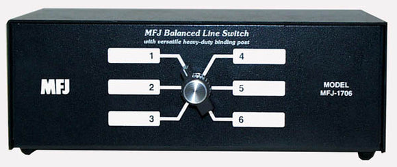 MFJ 1706 H 6 position antenna switch for balanced line