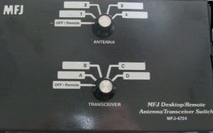 MFJ-4724 4 position desk/remote antenna transceiver switch 1.8-150MHz