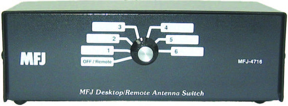 MFJ 4716 - 6 position Desk antenna switch 1.8-150