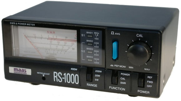 Maas RS 1000 SWR Power Meter HF VHF UHF 23cm