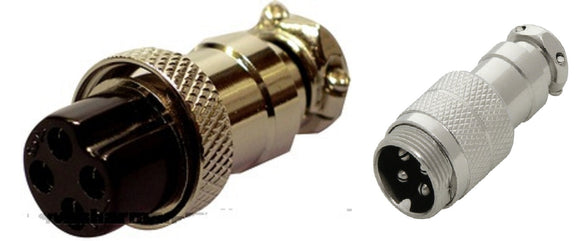 4 PIN MICROPHONE PLUG & CONNECTOR INLINE SOCKET