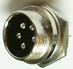 cb ham 5 pin microphone chassis socket