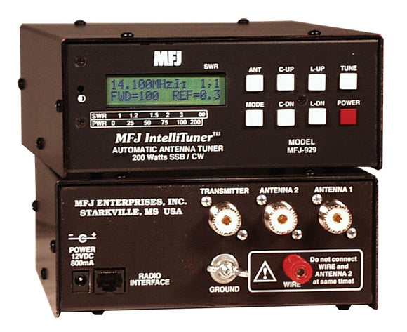 MFJ-929 Compact 200W 1.8 - 30MHz Automatic Antenna Tuner
