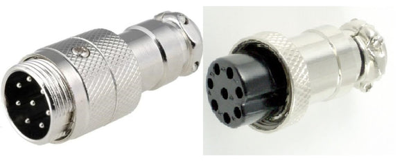 8 Pin Male & Female Microphone Plugs Connector