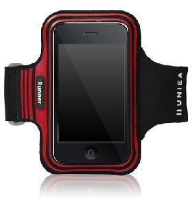 RED UNIEA SPORTS ARMBAND FOR APPLE IPHONE