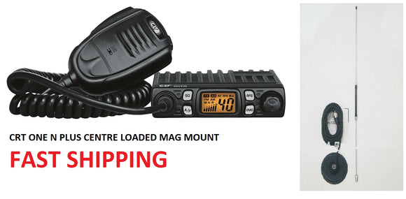 CRT One N CB Radio PLUS Centre Loaded Mag Mount