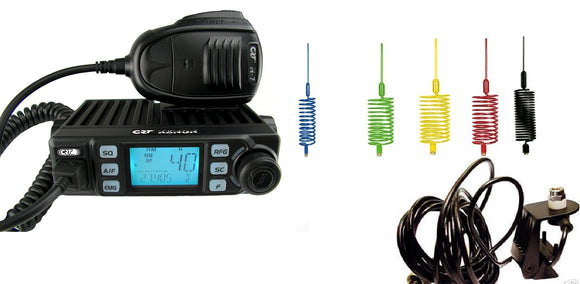 CRT XENON Multistandard AM FM CB Radio + Mini Stinger + Gutter Mount