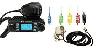 CRT XENON Multistandard AM FM CB Radio + Mini Stinger + Mirror Mount