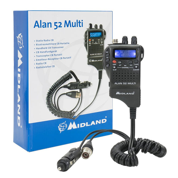 Portable CB Radio Midland Alan 52 DS Multi UK EU Channels Handset