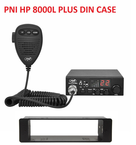 PNI Escort HP 8000L Multi Standard UK EU CB Radio PLUS DIN CASE