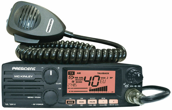 President McKinley AM FM LSB UK 40 CB HAM 10M 11M 12M MULTIMODE 12v 24v RADIO £201.95