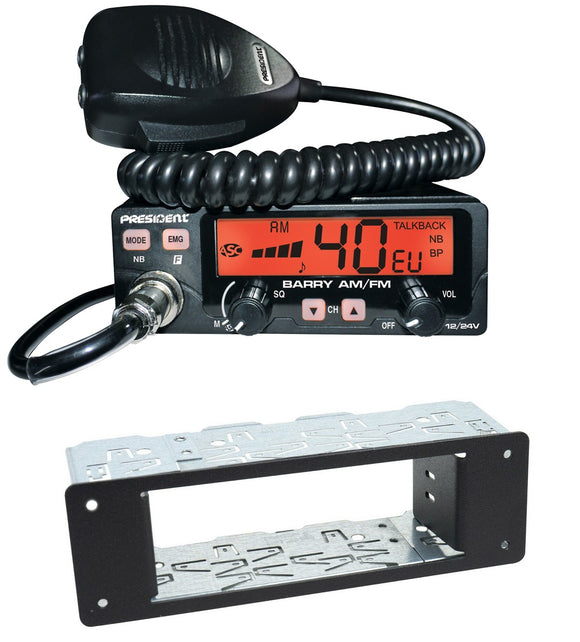 President Barry AM FM EU UK Mobile Multi CB Radio ASC  PLUS Din Case