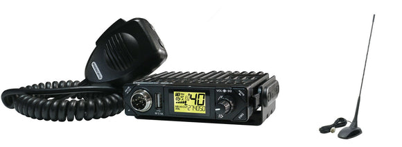 President BILL CB Radio AM FM Ultra Compact Multi Norms UK EU PLUS Extra 48 Mag Mount.
