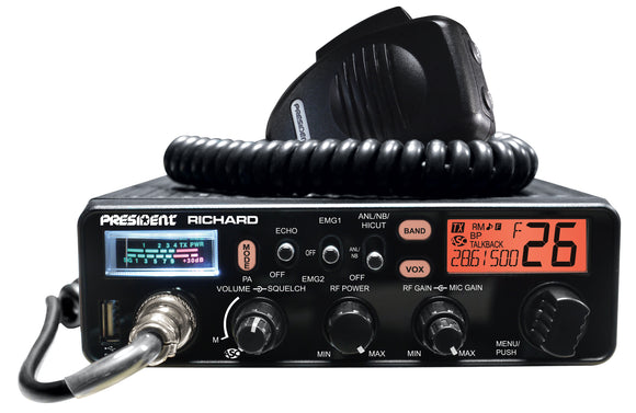 President Richard 28MHz 10m & 11m Band AM/FM Mobile Transceiver