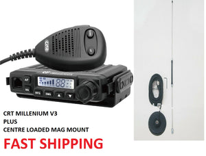 CRT MILLENIUM V3 UK40 80 CH CB RADIO + CENTRE LOADED MAG MOUNT
