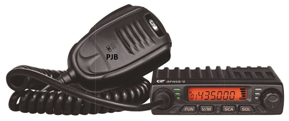 CRT SPACE - U VHF Mobile Radio PRE PROGRAMMED FOR 446 FREE