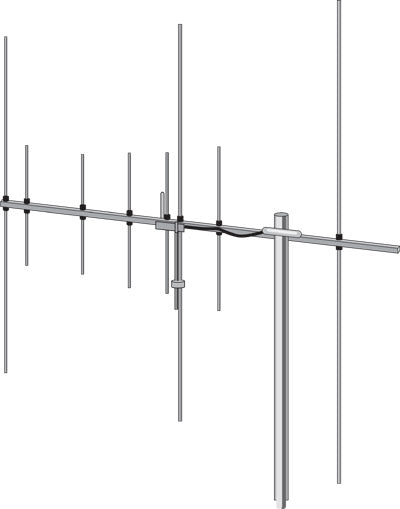 Hoxin HB FOX TWO BAND BASE BEAM ANTENNA YAGI 8 ELEMENTS 2m 70cm