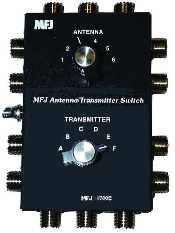 MFJ 1700C ANTENNA  COAX XMTR SWITCH 6P HF 2KW