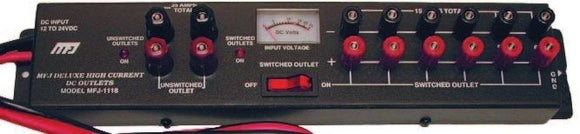 MFJ 1118 - High Current Deluxe Multiple DC Power outlet 35 Amps