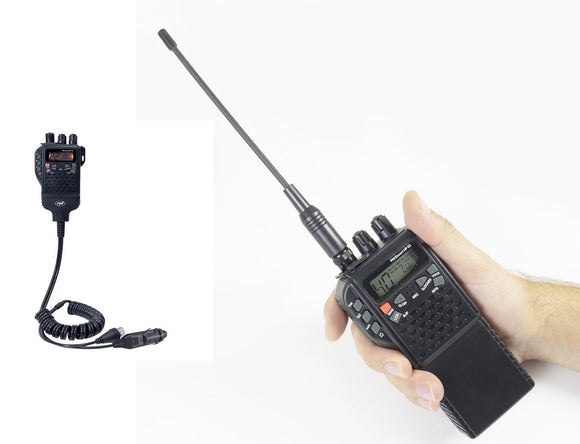 PNI Escort HP 62 portable CB radio handheld BNC antenna, battery, Car Kit, UK EU 40