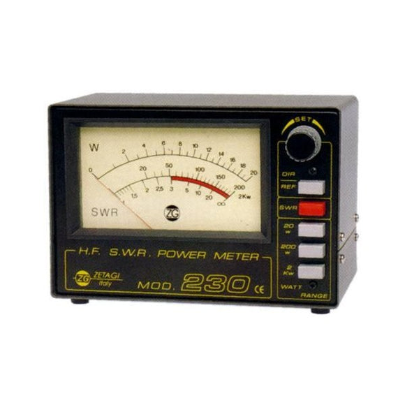 Zetagi 230 SWR POWER METER HF