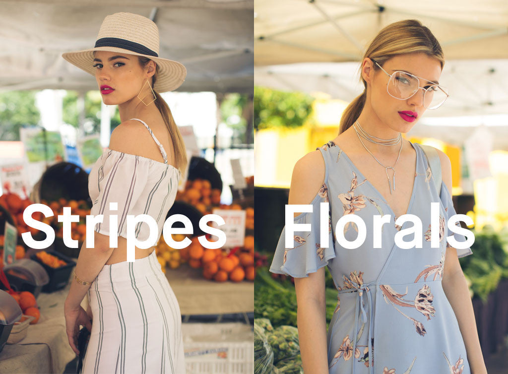 stripes and florals prints
