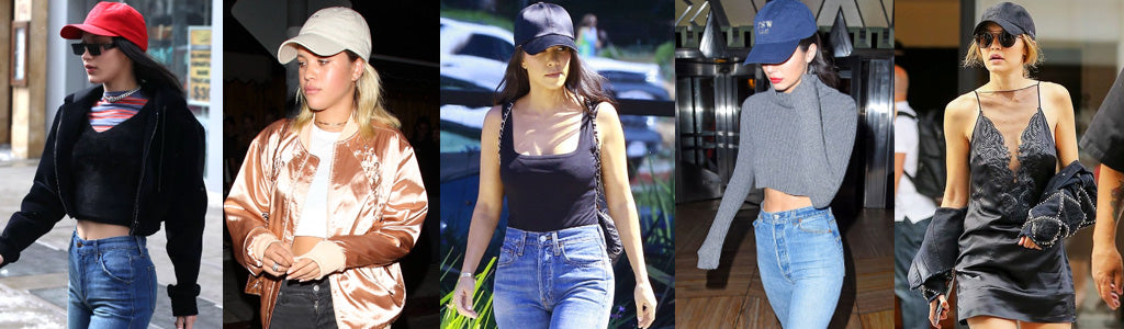 celebrities wearing baseball caps
