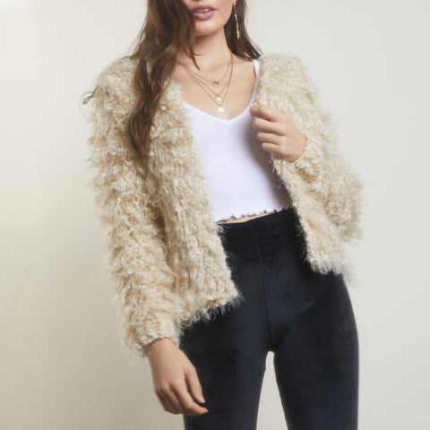 Looped In Shaggy Sweater