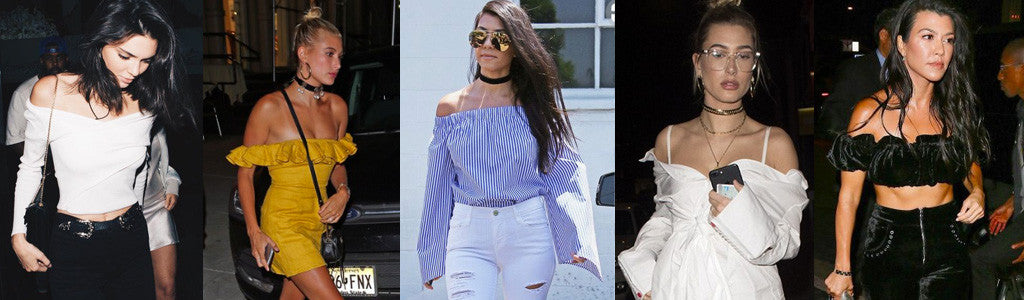 celebrities in the off the shoulder trend