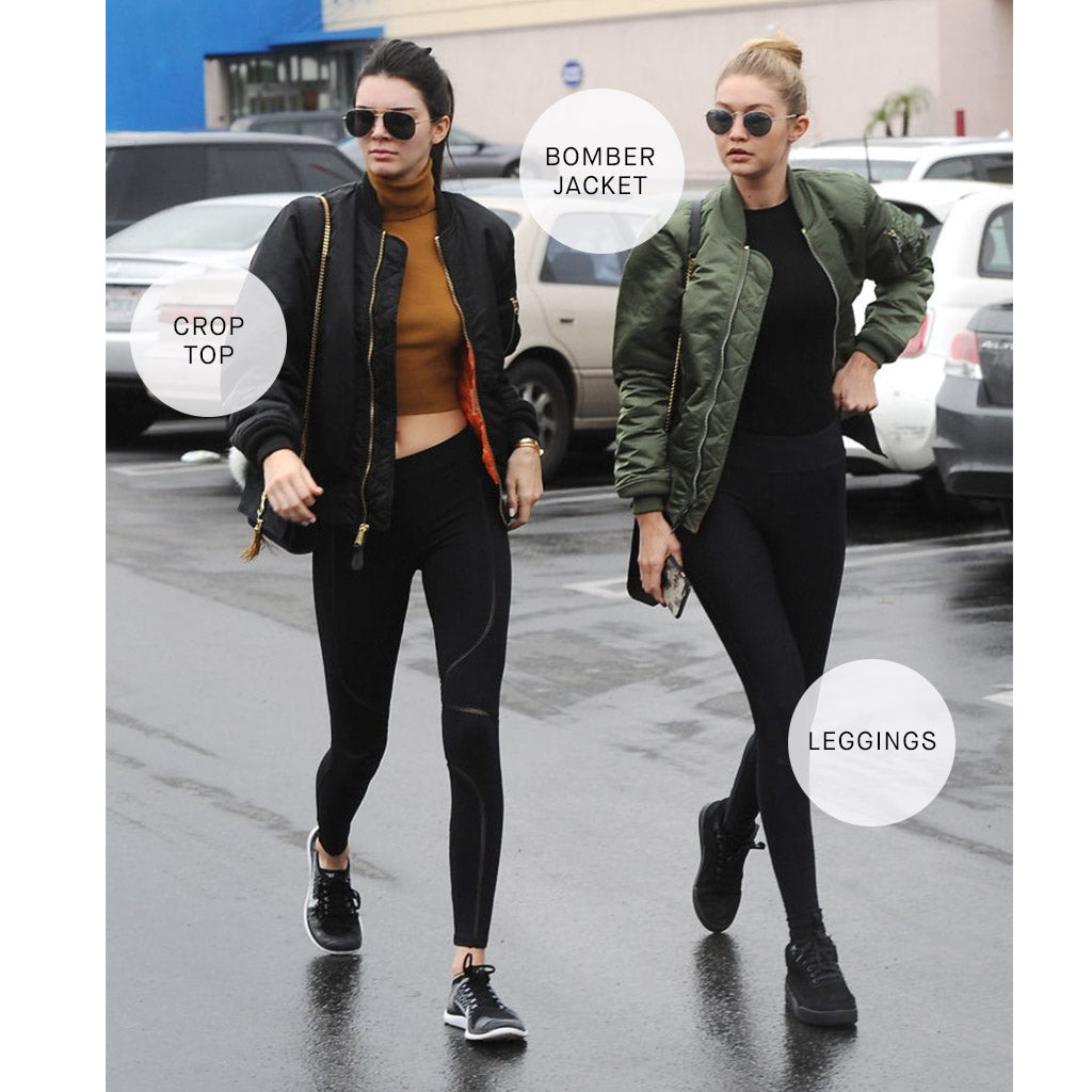 Kendall Jenner and Gigi Hadid in Bomber Jackets