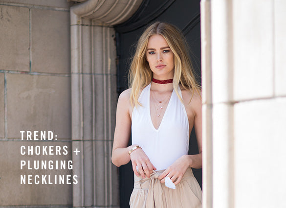 Trend: Chokers + Plunging Necklines | 2020AVE