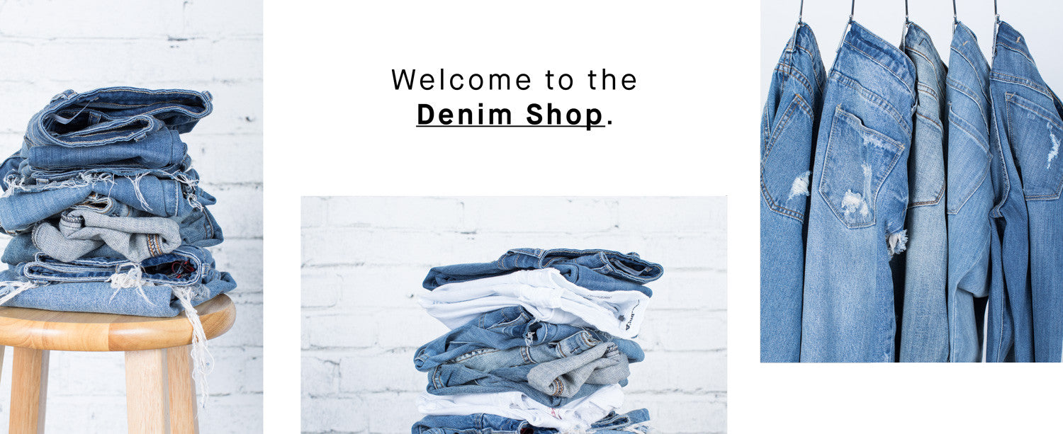 Welcome to the denim shop. Shop tops, bags, accessories, shoes and more!
