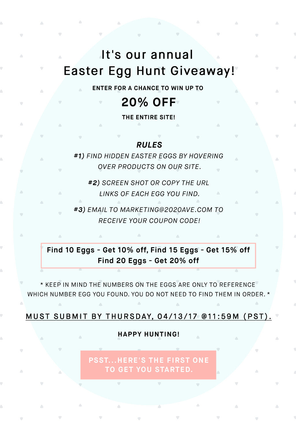 easter egg hunt giveaway