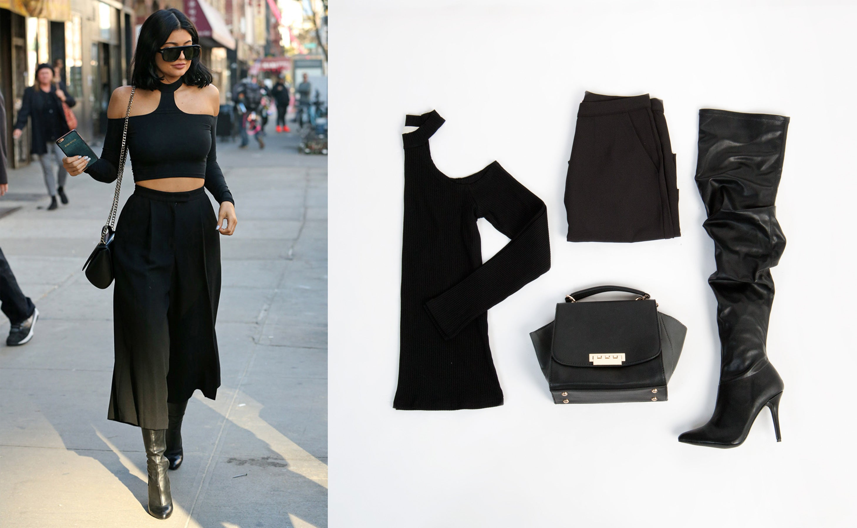 Kylie Jenner Street Style Outfit: Valentine's Day Date Night Look