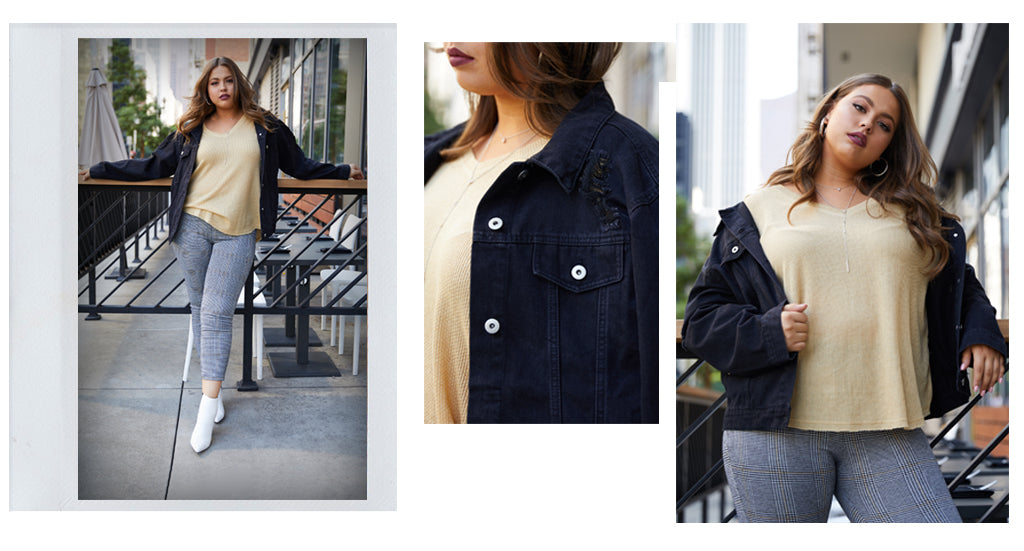 Plus Size Denim Jacket blog